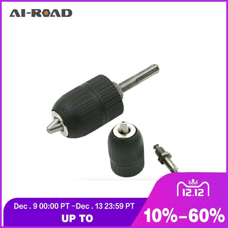 2-13MM Drill Chuck Keyless Drilling Quick Change Bit Adapter Converter Adaptor Hardware Tool Accessories Wrench Conversion 1/2