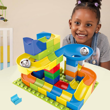 57-228 Pcs Marble Race Run Balls Track Building Blocks Funnel Slide DIY Compatible Big model building blocks toys for children