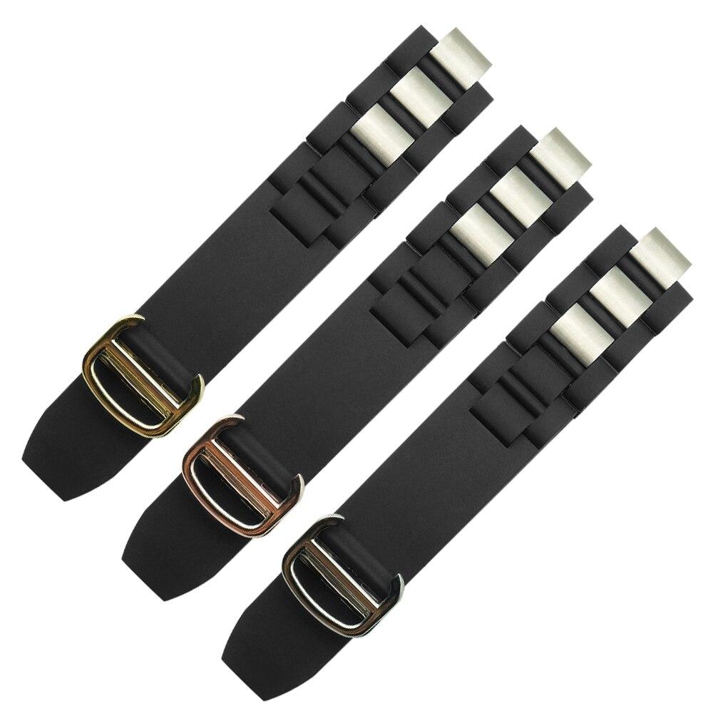 20mm*10mm Black Replacement Silicone Rubber Watch Band For Cartier 21 Chronoscaph W10198U2 W10125U2 W10197U2 W10184U2 DIY
