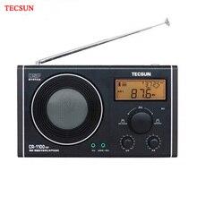 Tecsun CR 1100 dsp rádio com grande som profundo am/fm estéreo do vintage casa alta qualidade alto falante receptor de rádio