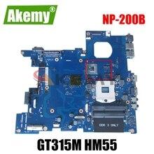AKEMY BA92-07712A BA92-07712B BA41-01527A Mainboard For samsung NP-200B 200B NP200B5A laptop motherboard GT315M HM55