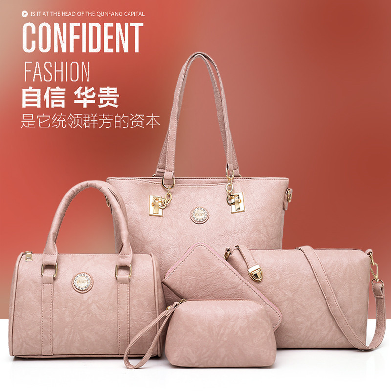 2018 New Style WOMEN'S Bag Europe And America Fashion Fashion Shoulder Bag/ Hand Bag Women's Bag Different Size Bags Five-Piece