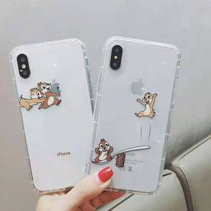 Cartoon Chip Dale squirrel Transparent phone case cover For iphone 11 Pro Max 7 8 6 6s plus XS Max Xr Cute Game Soft Clear Coque()