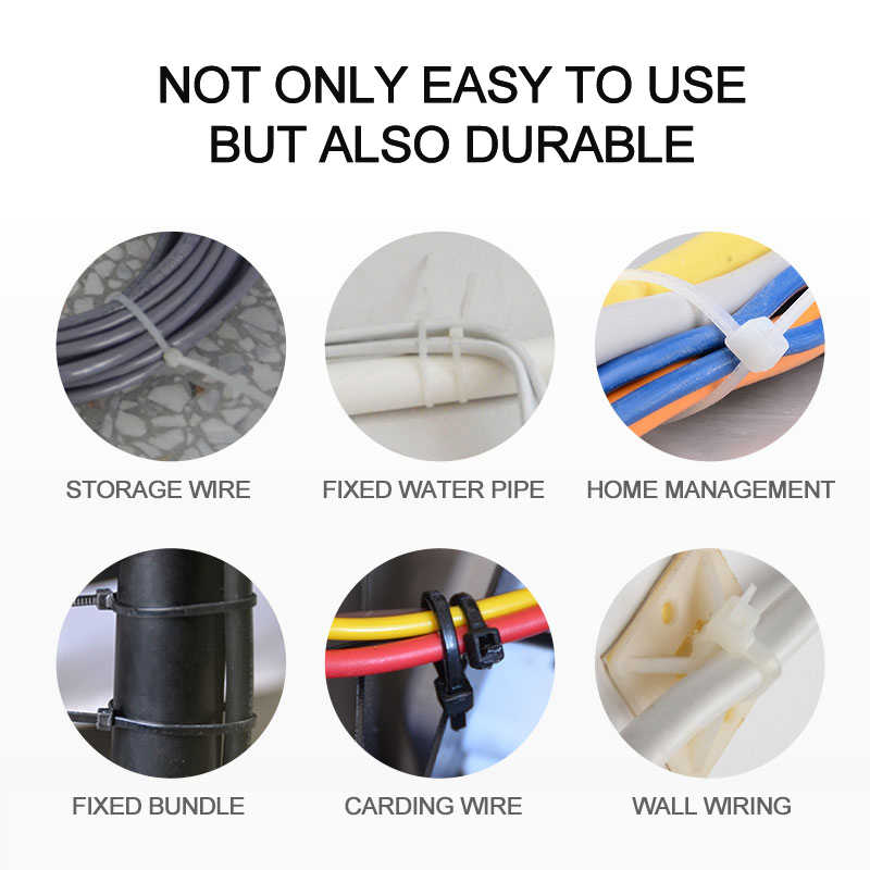 100 Uds. 150mm auto-bloqueo Nylon cables ataduras plástico Zip Tie alambre atadura envoltura correas UL certificada sujetadores ferretería Cable suministro