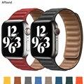 Кожаный ремешок для наручных часов Apple watch, версии 44 мм 40 мм, 38 мм, 42 мм, watchabnd оригинальная Магнитная Петля браслет наручных часов iWatch, никласо...