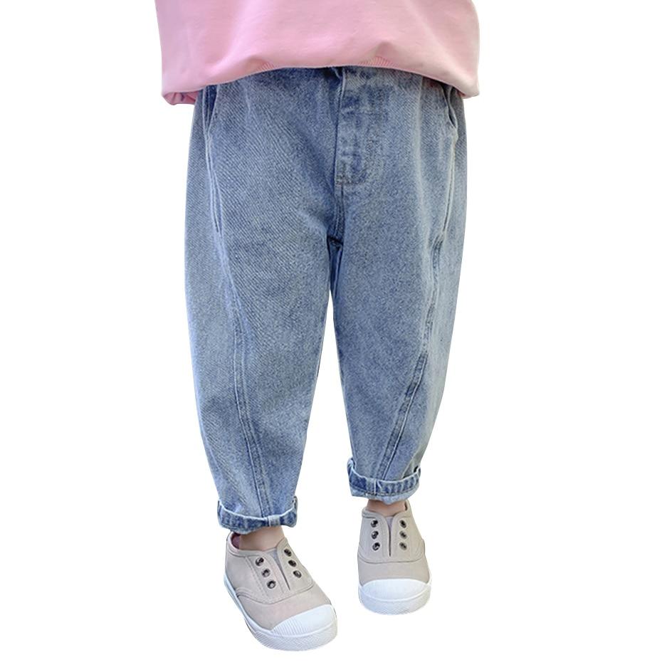 Детские джинсы; Однотонные джинсы для девочек; Сезон весна осень; Джинсы для маленьких девочек; Повседневный стиль; Одежда для маленьких девочек|Джинсы| | АлиЭкспресс
