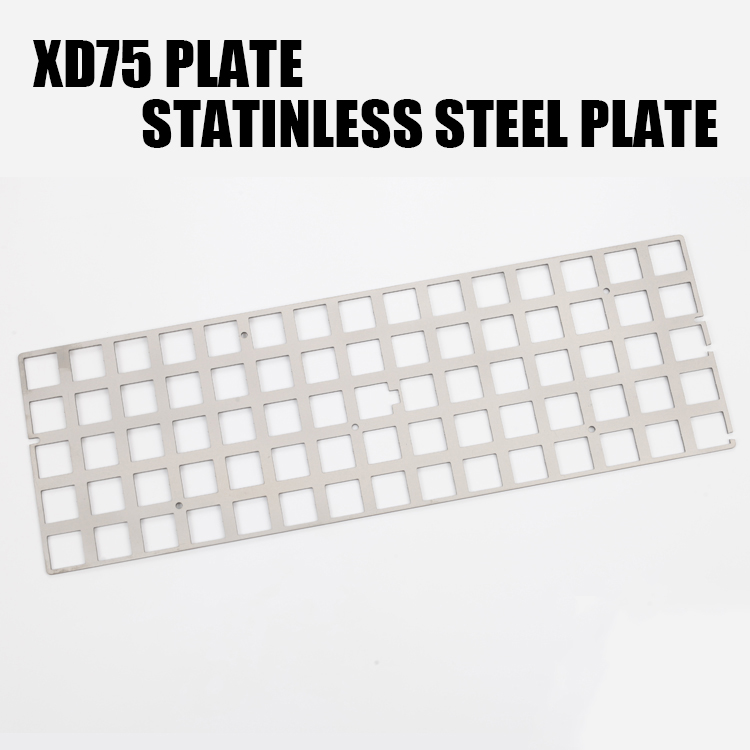 Stainless Steel <font><b>Plate</b></font> For Xd75re gh60 Axle Tester Large Planck <font><b>60</b></font>% Mechanical <font><b>Keyboard</b></font> Positioning <font><b>Plate</b></font> Stainless Steel image