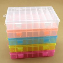 24 Grids DIY Tools Packaging Box Portable Electronic Components Screw Removable Storage Screw Jewelry Tool Case Colorful Plastic(China)