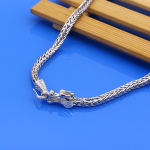 Image 5 - Mens 925 Sterling Silver Necklaces Dragon 925 Sliver Popular Necklaces Solid Silver Body Chain Jewelry Vintage Accessories