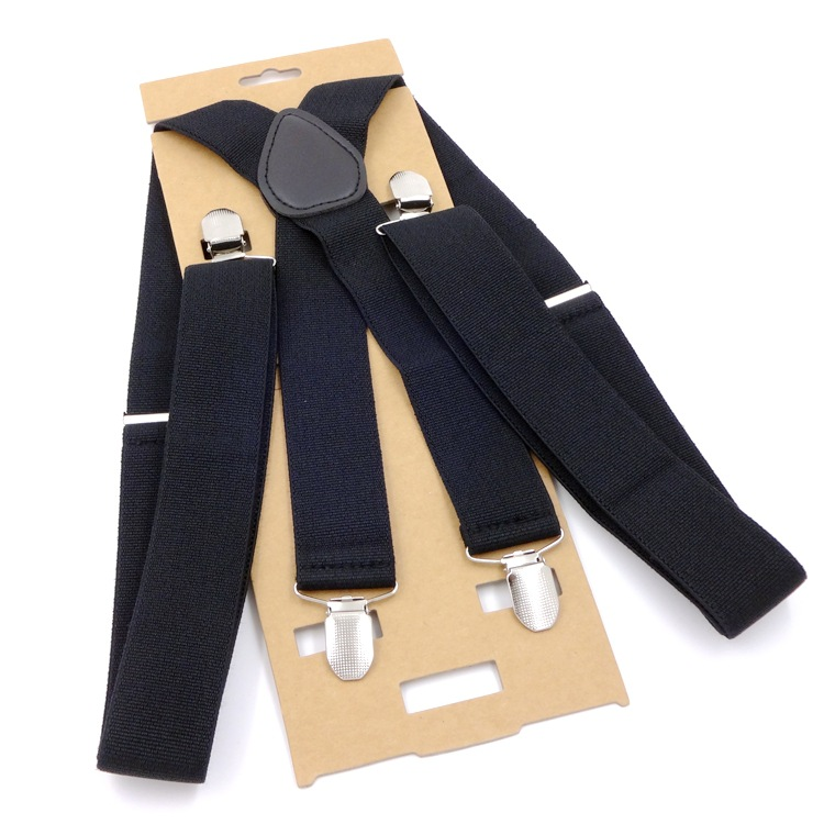 3.5 Cm Width115cm  Men Suspenders High Elastic Adjustable 4 Strong Clips Suspender Heavy X Back Braces Trousers Strap