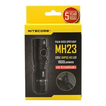 จัดส่งฟรี NITECORE 1800 Lumens MH23 IMR18650 2500mAh CREE XHP35 HD LED ไฟฉายกันน้ำไฟฉายขนาดเล็ก