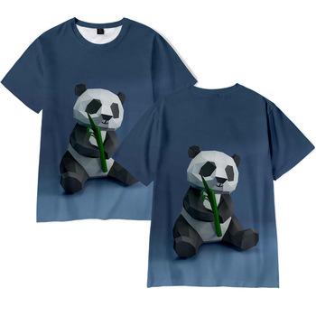 Drukowanie 3D T shirt śliczny nadruk z pandą moda męska i damska Harajuku koszulki z krótkim rękawem ponadgabarytowe męskie koszulki z dekoltem w serek tanie i dobre opinie CASUAL SHORT CN (pochodzenie) POLIESTER summer Na co dzień Z okrągłym kołnierzykiem tops Z KRÓTKIM RĘKAWEM Sukno Regular
