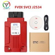 Qualidade original fvdi j2534 ferramenta de diagnóstico do carro suporte sae j1850 protocolo em linha módulo programação svci j2534 para ford/mazda