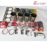 For Mitsubishi engine rebuild kit 4D33 4D33T piston ring liner gasket bearing
