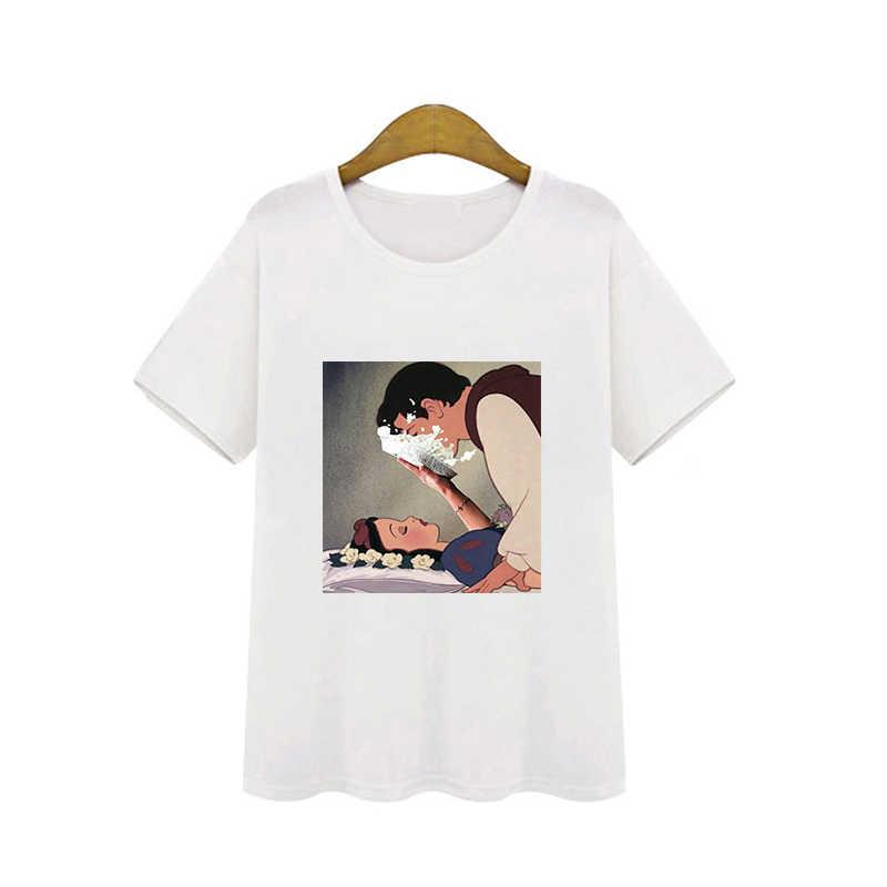 2019 Scarponi Da Neve Bianco T-Shirt di Moda Angeli Tshirt Mamma Amore delle Donne di Abbigliamento Streetwear Femminile Maglietta di Cotone Moda T Shirt vestiti