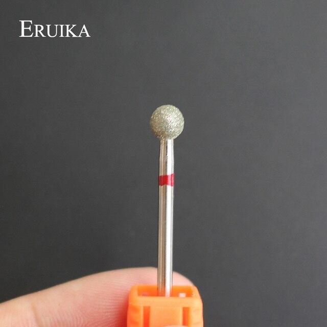 ERUIKA 1PC Diamond Nail Drill Bit Ball Burr Electric File Nail Cutter Manicure Drill Bits Nail Clean Tools Drill Accessory 3