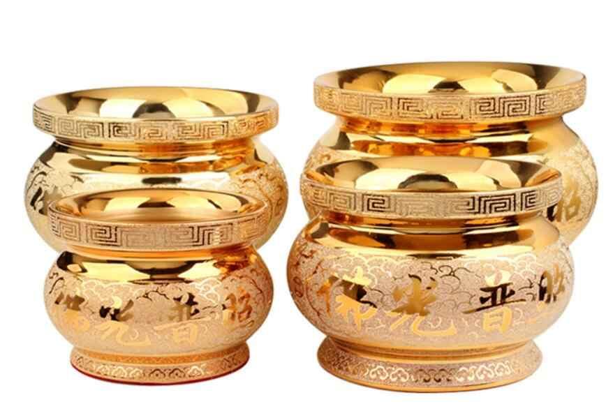 Złota ceramika pieca kadzidło ustalenia dotyczące gospodarstwa domowego rzemiosło gospodarstwa domowego z podkładkami antypoślizgowymi dla statua bożek bogactwa,