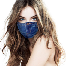 Adult Jeans Fashion Face Mask Woman Man Masker Blue Mouth Cover Mascarillas Reutilizable Masque Lavable Mascherine Maska Mascara