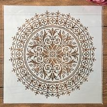 30*30cm duża geometria Mandala koła DIY Layering szablony malowanie kolorowanka szablony do albumu szablon do dekoracji tanie tanio TIAMECH