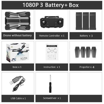 SG706 RC Drone 4K HD Dual Camera WIFI FPV Foldable Drone profissional 50X Zoom camera Quadcopter Optical Flow Dron VS M69G SG106 11