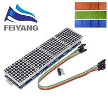 10 sztuk MAX7219 moduł macierzy punktowej moduł mikrokontrolera 4 w jednym wyświetlaczu