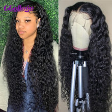 Onda profunda peruca frontal perucas de cabelo humano onda profunda encerramento peruca 4x4 peruca de renda transparente 13x4 peruca dianteira do laço cabelo remy brizilian 150