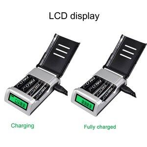 Image 2 - PALO 4 sloty wyświetlacz LCD inteligentna inteligentna ładowarka AA do akumulatorów Ni MH AA / AAA 1.2V ni cd