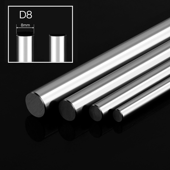 2pcs Optical Axis 300 330 350 380 400 500 600mm Smooth Rods 8mm Linear Shaft Rail 3D Printers Parts Chrome Plated Guide Slide