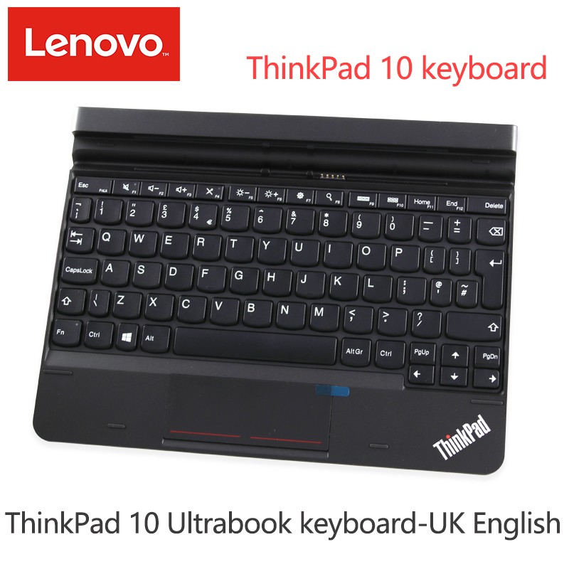 Lenovo ThinkPad 10 Ultrabook tastatur-UK Englisch 4X30E68124 EA550023 <font><b>2</b></font>-in-1 tablet expansion tastatur image