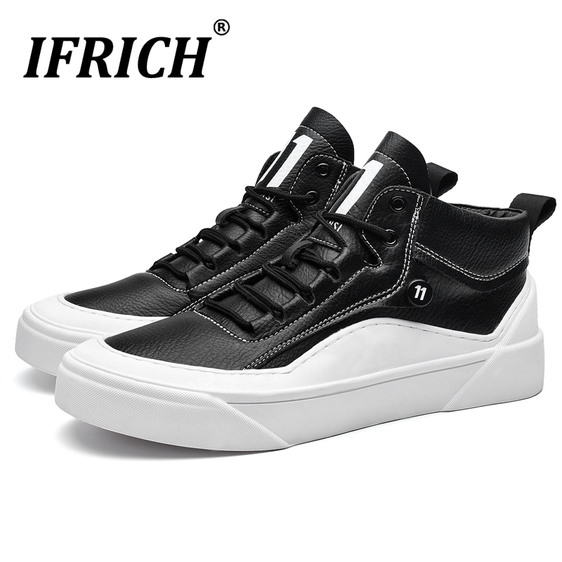 Hot Sale New Luxury Youth Casual Shoes For Mens Comfortable Leather Shoes Men Designer Black Sneakers Men Rubber Sole Man Walking Shoes