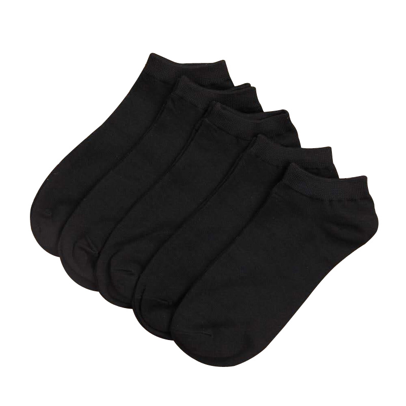 10 Pairs Men & Women Socks Breathable Sports Socks Solid Color Boat Socks Comfortable Cotton Ankle Socks White Black Gray Blend