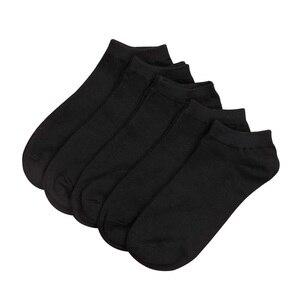 10 Pairs Men & Women Socks Breathable sports socks solid color Boat socks Comfortable Cotton Ankle Socks White Black Gray Blend(China)