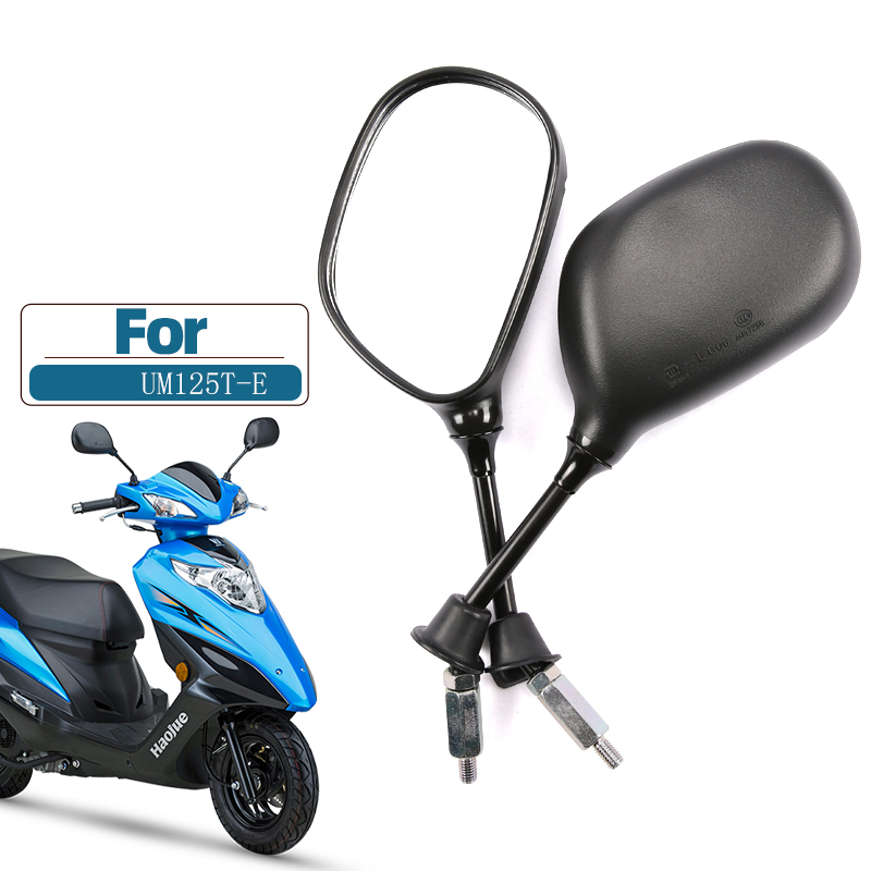 8mm 10mm Electric Motorcycle Rearview Mirrors,For SUZUKI Haojue UM125T-E,Rear View Mirrors Back Side