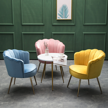 American Light Luxury Shell Chair Single Sofa Small Apartment Simple Modern Furniturer Elastic Sponge Seat Comfortable Sitting