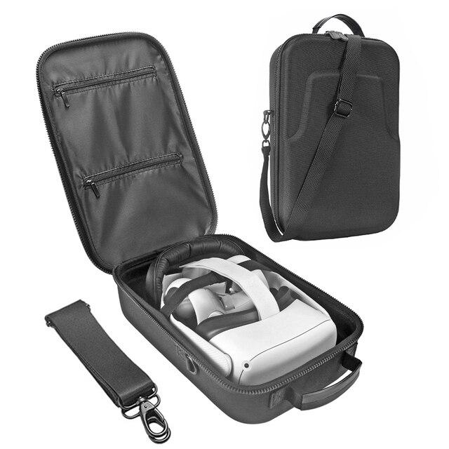 Nova eva viagem dura proteger caixa de armazenamento saco de transporte capa para oculus quest 2/oculus quest all in one vr e acessórios