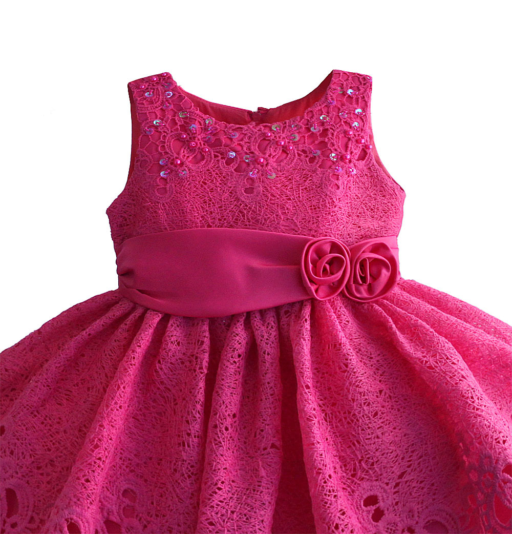 Zoeflower Button Empty Multilayer Lace Children Shirt Pure Cotton Princess Dress Performance Formal Dress Red