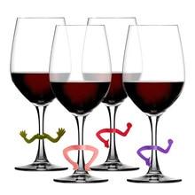 6 шт Силиконовые жесты вечерние маркер на стакан для вина талисманы питьевой Бадди чашки идентификации чашки этикетки тег знаки для бара