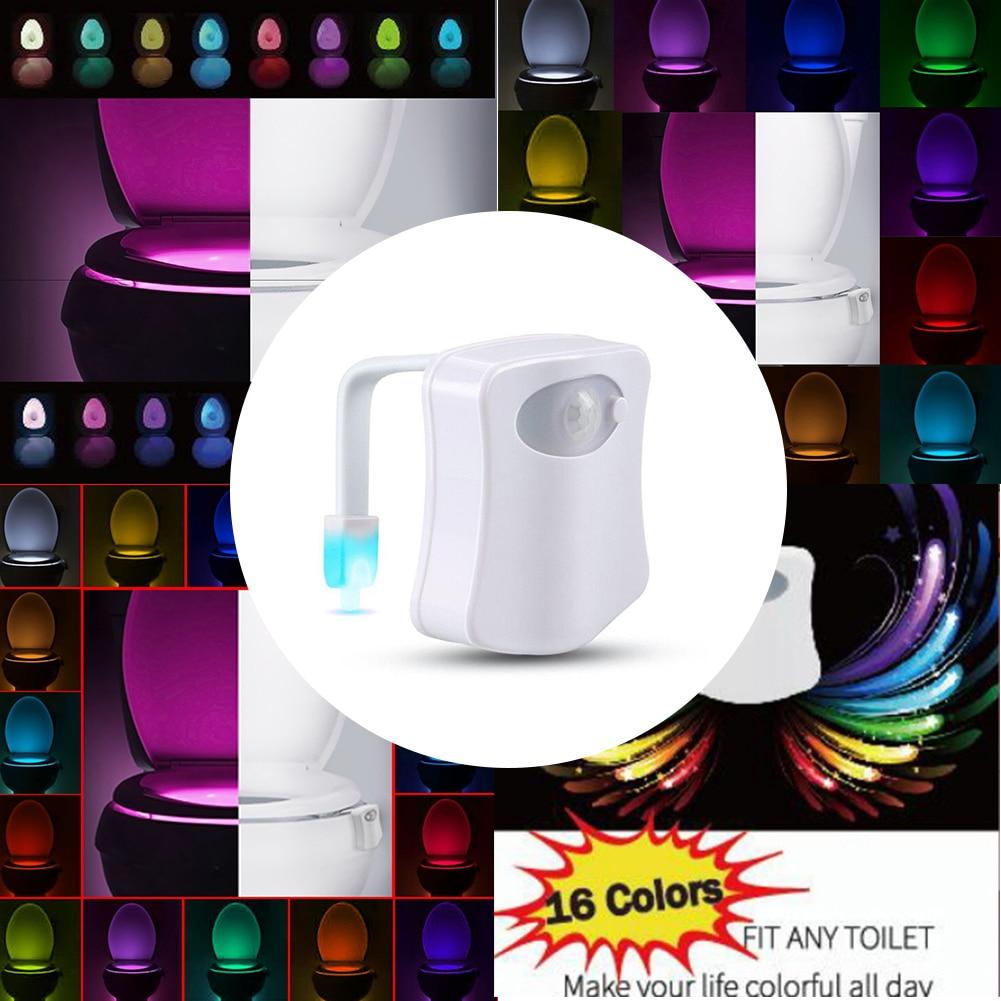 Led luminaria wc wc pendurado backlight multi