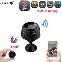 Wi fi Mini Câmera Build in Bateria Home Security Night Vision Movimento Da Câmera De Vigilância DVR Micro Câmera Sem Fio