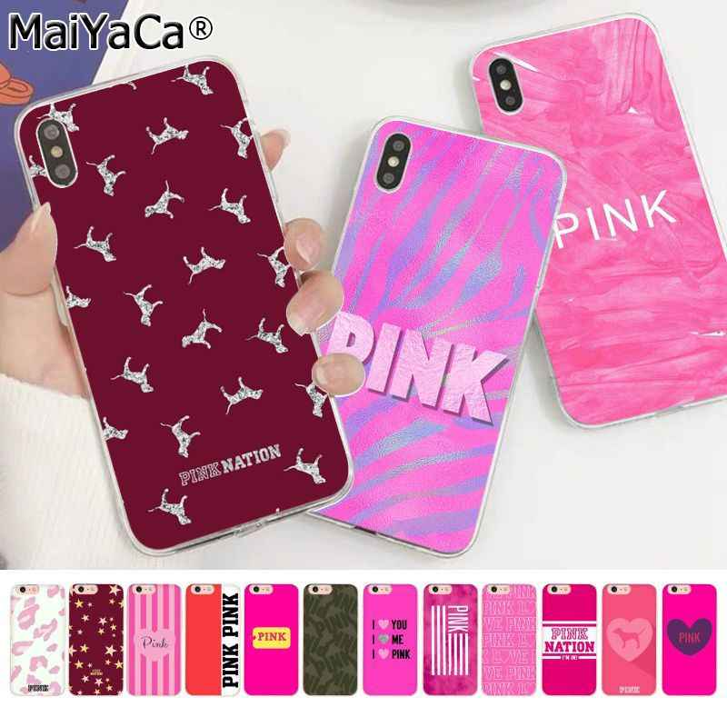 MaiYaCa PINK NEW LOVE PINK Leopard TPU fundas Phone Case Cover for Apple iphone 11 pro 8 7 66S Plus X XS MAX 5S SE XR