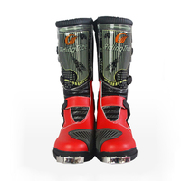 PRO Speed Men's Motocross boots boot motorcycle waterproof motobotinki moto shoes motorboats Mircrofiber motorcycling boots