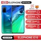 "ELEPHONE E10 Octa Core Смартфон 4GB 64GB 6.5 ""Экран Quad Camera 48MP Основная камера телефон Android 10 NFC Боковой отпечаток пальца мобильного телефона"