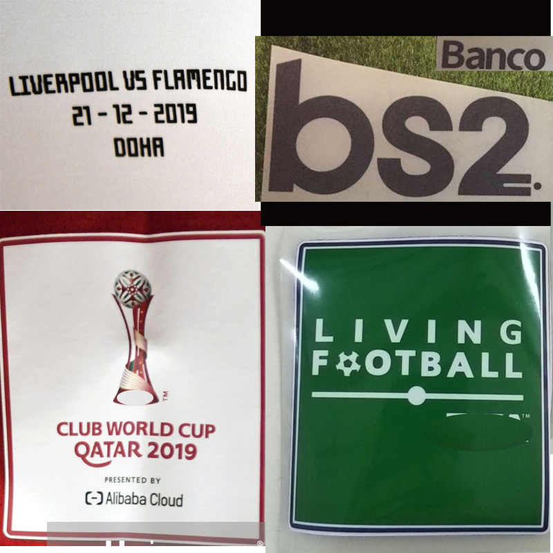 2019 Qatar Club Cup Patch Final Flamengo Wedstrijd Details Patch Volledige Sponosor Match Spel Voetbal Patch Badge
