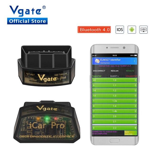 Vgate iCar פרו OBD2 elm327 אבחון סורק Bluetooth 4.0 אבחון כלי ELM327 V2.2 סורק עבור IOS/אנדרואיד קוד קורא