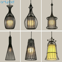 Artpad White Black Modern Design Metal Pendant Lights for Dining Room Kitchen E27 Base Bird Cage Retro Pendant Lamp Bar Light стоимость
