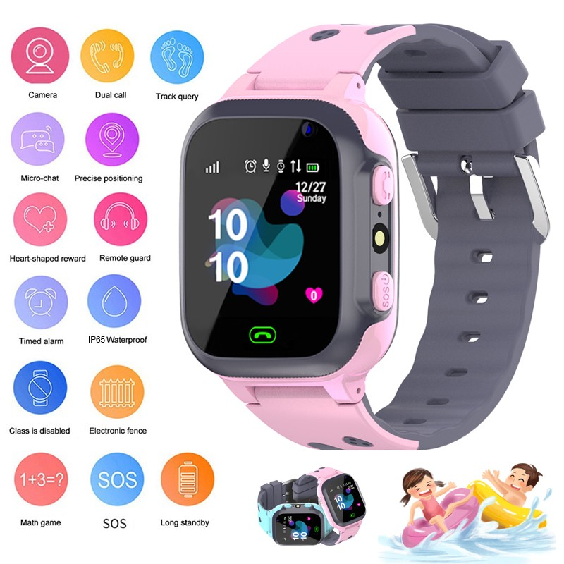 Children's Smart Watch Waterproof Flashlight SOS Button Remote Monitoring Kids Wristwatch Children's Watch with Reloj Baby Watch