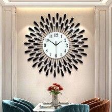 Iron Creative Clock Hanging Clock Living Room Decoration Clock Electronic Quartz Clock Asian Hot Selling Clock недорого