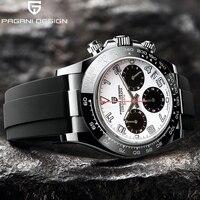 PAGANI Design-Reloj de cuarzo para Hombre, cronógrafo de acero inoxidable, zafiro, resistente al agua, nuevo, 2021