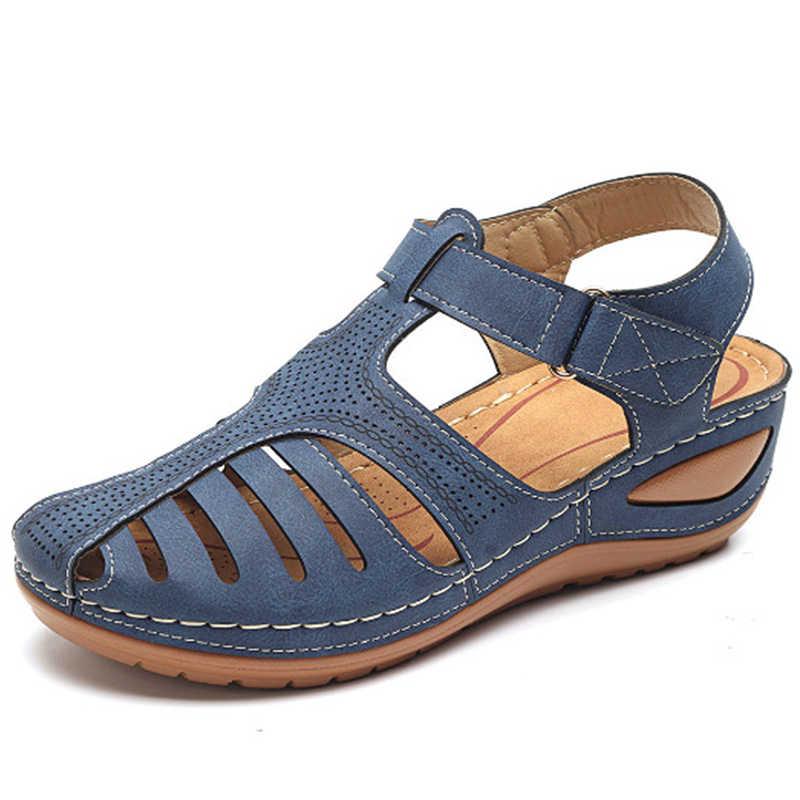 Kadın sandalet 2020 yeni takozlar ayakkabı kadın yaz sandalet gladyatör rahat platform sandaletler kama topuklu Sandalias Mujer