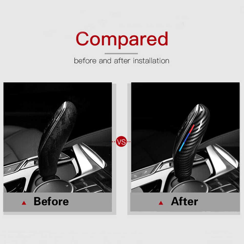 Cho Xe BMW 5/7 Series X3/X4 G30 G31 G01 G02 Sợi Carbon Bánh Răng Chuyển Dịch Núm Bao Viền